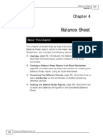 Balance Sheet on Excel