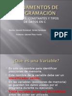 Variables Constantes y Tipos de Datos 1231094571639405 1