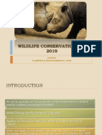 Wildlife Conservation Act 2010.Azah's