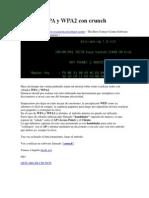 Romper WPA y WPA2 Con Crunch