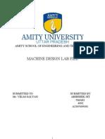 Machine Design Lab-I