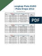 Jadwal Lengkap Piala EURO 2012