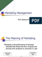 Marketing Management - Session 2
