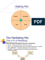 Marketing Mix  & Product Life Cycle