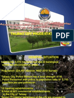 Talisay City Police Stn Re Accomplishment Report of Last Quarter of 2011 & 1st Quarter of 2012