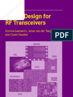 Circuit Design for RF Transceivers(Book)