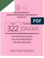 Soal Kemampuan Dasar Paket 322