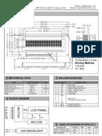 CA1602B Datasheet 16x2 Character LCD Module