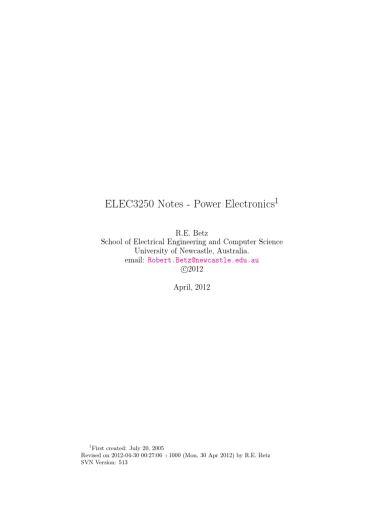 Power Electronics Notes Betz Inverter Computer Integrated Circuit Diagram Filtercircuit Basiccircuit