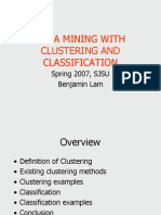 Data Mining and Clustering - Benjamin Lam