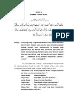 Sumber Ajaran Islam