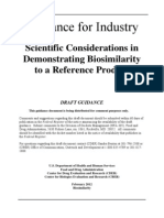 FDA_Scientific Considerations in Demonstrating Biosimilarity to a Reference Product