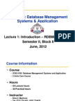 ICSE6105 Lecture1 Introduction&MySQL