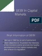 Role of SEBI in Capital Markets