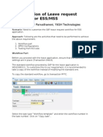 Configuration of Leave Request Workflow for ESS