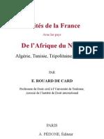 De Card - traités de la France avec les pays d'Afrique du Nord