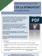 EL FUTUR DE LA HUMANITAT - conferencia Joaquim Duran