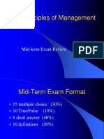 Principles Management Mid Exam Review