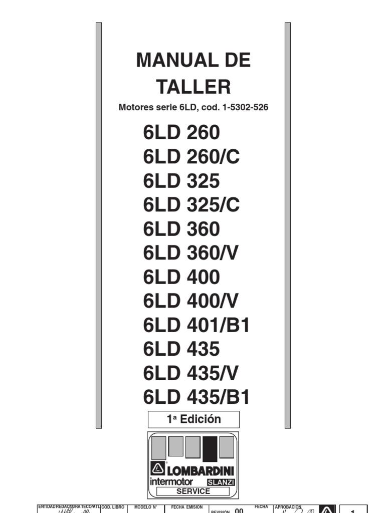 Manual de Taller LOMBARDINI Serie 6 LD Matr 1-5302-526