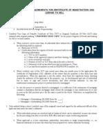 Checklist Requirements Crls