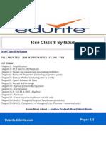 Icse Class 8 Syllabus