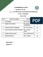 ECE - III Yr - VI Sem - QB Formatted