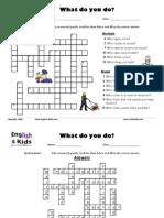 Jobs Crossword Puzzle
