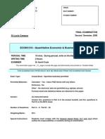 Econ1310 Exam