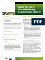 21 Food Processing Confectionery Manufacturing Energy Reduction Factsheet