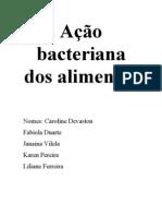 Ação bacteriana dos alimentos