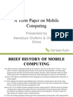 Mobile Computing Slides