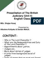 Presentation of the British Judiciary(Unit 4)