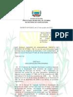 Projeto do Decreto de Regulamentação do SIM PTIMBU