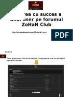 Crearea Cu Succes a Unui User Pe Forumul