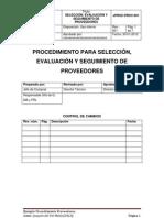 Procedimiento para selección, evaluación y seguimiento de Proveedores_Joaquín del Val Melús