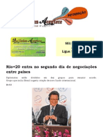 Rio+20 entra no segundo dia de negociações entre países