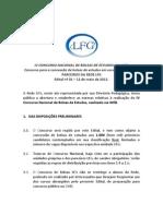 Edital IV Concurso Nacional de Bolsas