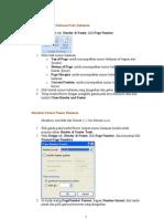 Membuat Nomor Halaman Pada Dokumen