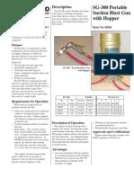 Technical Data Sheet for Portable Blaster