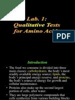 QualitativeTests for Amino Acids