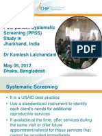Lalchandani_Post Partum Systematic Screening (PPSS) Study in Jharkhand, India