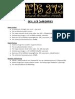 Skill Set Categories - Maac Final