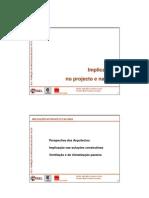 SCE RCCTE - ISEL Implicações no projecto e na obra