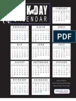 Free 2008 Sick Day Calendar