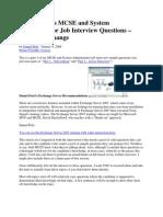 Exchange Interview.Q