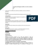 Identificación de las características del lenguaje científico en un texto académico.