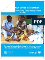WHO/UNICEF JOINT STATEMENT - Integrated Community Case Management