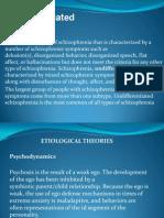 Powerpoint of Undifferentiated Schizophrenia