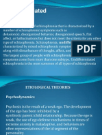 Powerpoint of Undifferentiated Schizophrenia