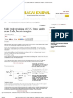 Mild Hydrocracking of FCC Feeds Yields More Fuels, Boosts Margins - Oil & Gas Journal